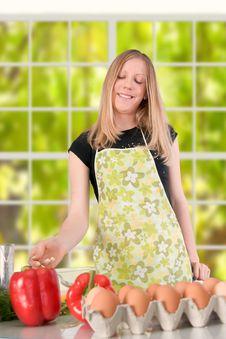 Free Girl Preparing Food Stock Images - 1790504