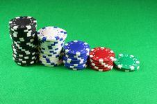 Free 5 Stacks Of Poker Chips Stock Photo - 1791200