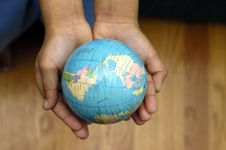 Free World In Your Hands Stock Photos - 1791903