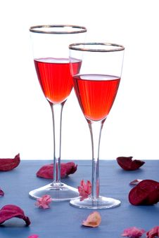 Free Wine And Roses Royalty Free Stock Photography - 1791917