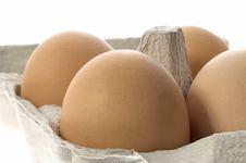 Free Eggs In A Grey Cardboard Carton Boxeggs Royalty Free Stock Photography - 1792437