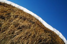 Free A Hay Is Snow And Sky Blue Stock Photography - 1792802