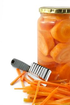 Carrots In Glass Container Royalty Free Stock Image