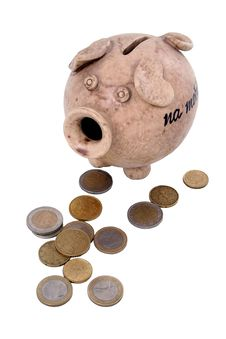 Free Piggy Bank And Money Royalty Free Stock Image - 1795046