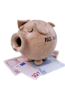 Free Piggy Bank And Euro Stock Photo - 1795170
