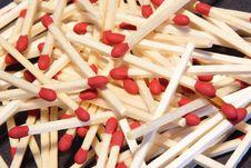 Piles Of Match Sticks Royalty Free Stock Photos