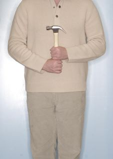Free Man Holding Hammer Stock Photography - 1795492