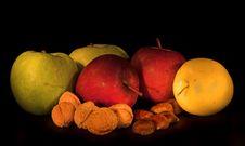 Free Apple, Walnut & Chestnut Royalty Free Stock Photo - 1795705