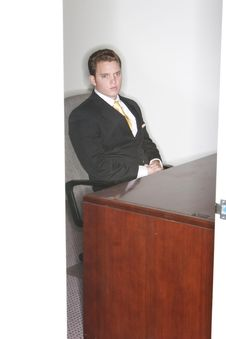 Free Businessman Looking Out Of His Office Royalty Free Stock Photography - 1795797