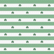 Free Green And White Shamrock Stripe Stock Images - 1796274