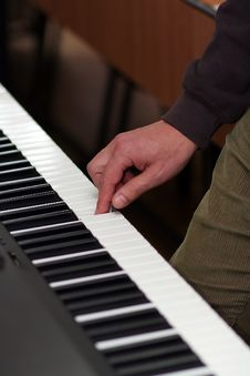 Free Hand Playing Piano Stock Photos - 1796833