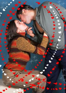 Free Intimate Color Image Of Sensual Couple Stock Photos - 1797413