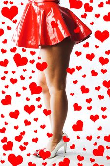 Free Lady In Red Royalty Free Stock Photo - 1797475