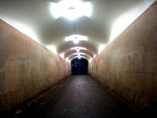 Free Long Tunnel At Night Stock Photos - 1797653