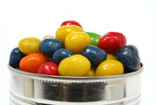 Free Multi-coloured Sweets With Raisin In Metal Bank 2 Stock Image - 1798721