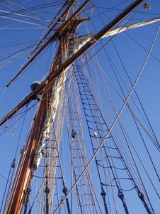 Mast And Ropes Stock Photo