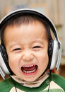 Free Child And Headphone Stock Image - 17901911
