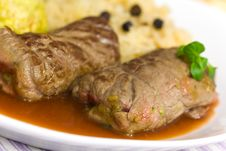 Free Beef Roulade With Dumplings,Cabbage (Sauerkraut) A Royalty Free Stock Photo - 17900295