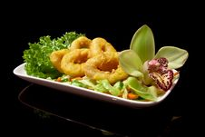 Free Japanese Shrimp Tempura Royalty Free Stock Photo - 17901575