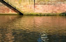Free Steps On Quay Of Canal In Town Stock Image - 17901671