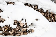 Free Winter Firewood Royalty Free Stock Image - 17901706