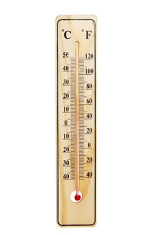 Free Wooden Thermometer Royalty Free Stock Image - 17902256
