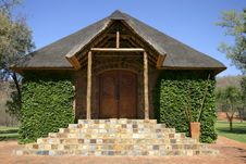Free Stone Chapel With Thatch Roof Stock Image - 17903091