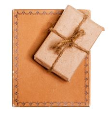 Present Gift From Grunge Paper Stock Images