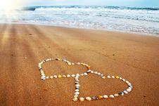 Free Seashell Hearts Stock Images - 17903414
