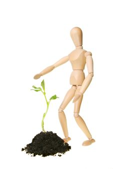 Free Manikin And Seedling Stock Photography - 17903912