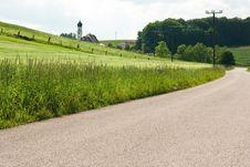 Spring Scenery In Bavaria Stock Photo