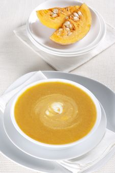 Free Pumpkin Soup Stock Photo - 17904690