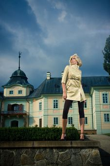 Free Attractive Blond Girl In Castle Park Stock Image - 17906091