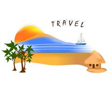 Travel Template, Cdr Vector Royalty Free Stock Photography