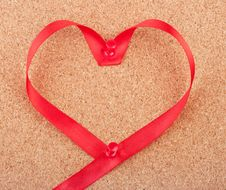 Free Red Heart Shaped Ribbon Royalty Free Stock Photography - 17906597