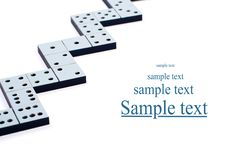 Free Domino Pieces In A Line Or Zigzag Stock Photo - 17906690