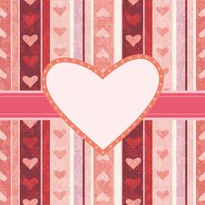 Free Greeting Card With Hearts Stock Image - 17907011