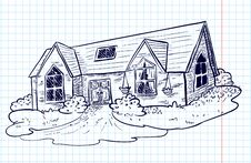 Doodle House Royalty Free Stock Image