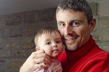 Free Baby Girl With Her Father Stock Photos - 17909633