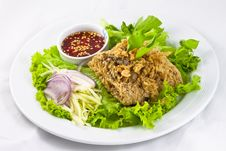 Free Thai Style Catfish Salad Royalty Free Stock Image - 17909666