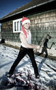 Free Furious Santa With An Axe Royalty Free Stock Photo - 17913425