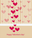 Free Beautiful Valentine Greeting Card Wiht Hearts Royalty Free Stock Photography - 17915357