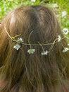 Free Feminine Hair With Daisy Flowers Wreath Stock Photos - 17916393