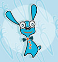 Free Blue Rabbit With Bow Tie Stock Images - 17916924