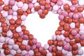Free Valentine Candy Heart Frame Stock Photography - 17919362