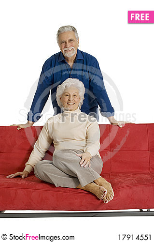 Free Portrait Of A Happy Couple Of Elderly Stock Image - 17914551