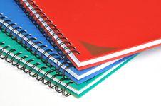 Free Corner Of Three Color Rectangular Notebooks Royalty Free Stock Photos - 17910058