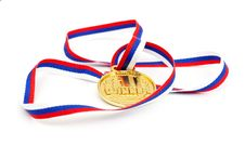 Free Golden Medal And Ribbon Stock Image - 17910081