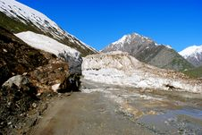 Free Dramatic Ladakh Snow Peaks And Glaciers Stock Image - 17910201