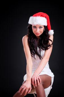 Free Sexy Christmas Girl Stock Image - 17910241